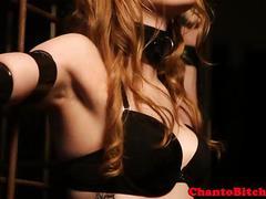 Lezdom blonde skank being punished