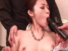 Slut japanese with stockings in wild orgy group party