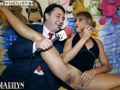 Baby marilyn gives a blowjob lesson for andrea diprè
