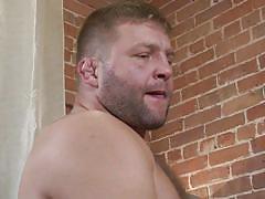 Big man pounds the tight ass stud