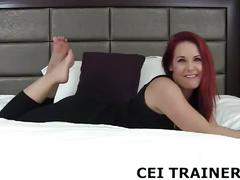 You are going to taste your own cum for me cei