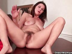masturbation, amateur, hairy pussy, solo, milf,