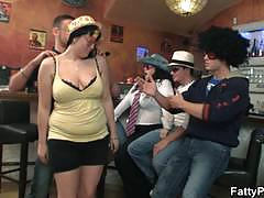 Bbw girls getting drunk and naughty at the pub