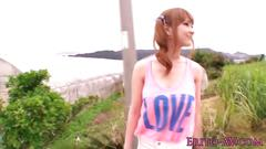 Stunning japanese babe tia bejean beach sex