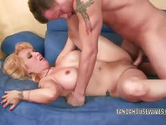 Mature blonde sophia mounds gets her pussy rammed.