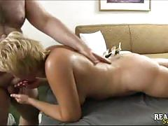 Mature slut tracy banged by a fat guy
