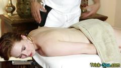 Big assed babe massaged