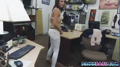 She has a nice dicking session at the pawnshop