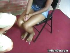Worshipping her beautiful indian feet
