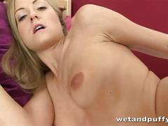 Hot blonde sicilia enjoys anal toy action