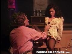 Porn slut in stockings fucked at the bar