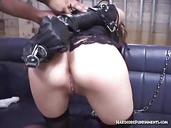 Asian chick gets some hardcore bdsm treatment