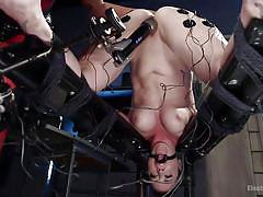 Busty bella gets tied up and aroused