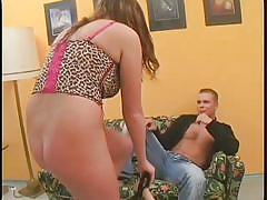 Naughty carmen fucks her partner with strapon