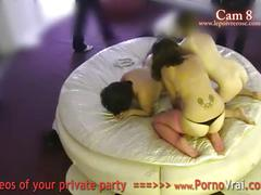 Spy cam at french private party! camera espion en soiree privee. part390