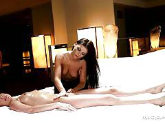 lesbian, massage, oiled, pussy licking, fingering, big breasts, brunette babes, all girl massage, nuru network, jennifer white, adriana chechik