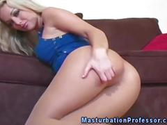 Pantyhose loving blonde gets nasty