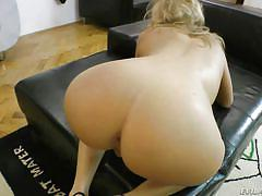 milf, blonde, high heels, blowjob, big dick, from behind, ass fucking, balls sucking, pov sex, evil angel, jessy brown, rocco siffredi