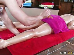 milf, massage, piercing, busty, oiled, brunette, rubbing, foot massage, dirty masseur, brazzers network, tanya tate, bruce venture