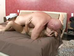 Petite coed gia jakarta takes a dick in her tiny pussy