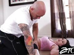Hot big tit milf fucks her personal trainer