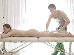 Masseur fingers and fucks his young client