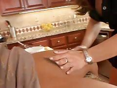 Lesbians having pussy in the kitchen