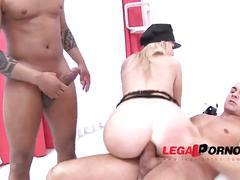asshole, hardcore, blonde, babe, fingering, closeup, assgape, bigbooty, doubleanal, 3guys1girl