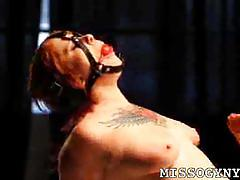Tattooed redhead misti dawn in bondage and tortured