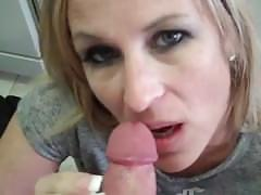 blowjob, milf, smoking, big-boobs, smoking-slut-wife