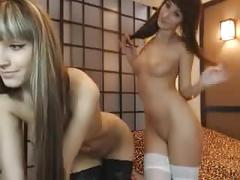 Two seriously hot teens on cam