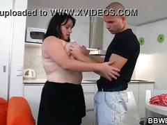 Cooking fat girl getting fucked