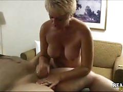 Chubby mature tracy collecting cum after massage