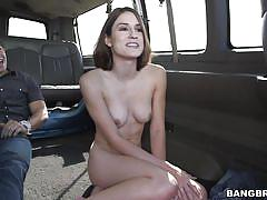 small tits, babe, bang bus, undressing, car sex, short haired, pov, sex for money, bang bus, bangbros network, ayn marie