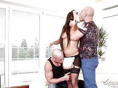 Delivery guys got their hands on a hot nanny @ dp the nanny with me #03