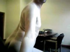 cumshot, big, ass, masturbation, office, chair, webcam, boss, stroking, jackoff, boyfriend, husband, spying