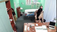 Sexy patient rode cock of her doctor
