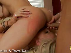 Slutty blondes sadie swede and tanya tate fucking