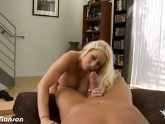 Candy manson flaunts her boobs when riding dick