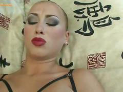 Russian dasha foot fucking her partner's cock