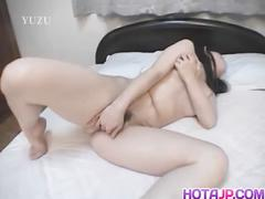 Lovely naomi arita plays with her sex toy in solo