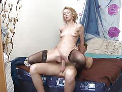 small tits, tattoo, blonde, mature, stockings, blowjob, reverse cowgirl, pov, mature nl, natali xx