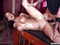 Busty brunette gets exactly what she wants