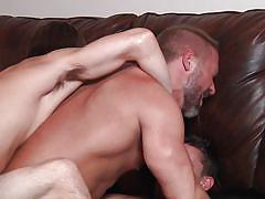Horny dude gets double penetrated