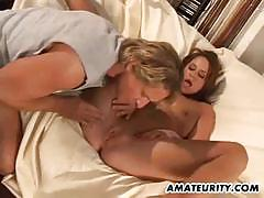 Nympho babe huge creampie at the end of their fuck
