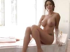 Hot young beauty shows her perfect body