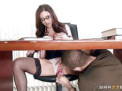 big tits, teacher, glasses, school, blowjob, pussy licking, brunette milf, nipple sucking, boobs groping, big tits at school, brazzers network, kendra lust, xander corvus
