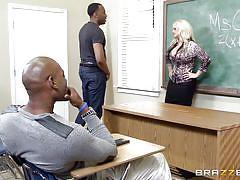 facesitting, interracial, blowjob, busty, group sex, undressing, blonde milf, at school, bbc, big tits at school, brazzers network, alena croft, flash brown, jon jon, rob piper, jovan jordan