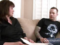The heavily tattooed young stud fucks his mature private tutor