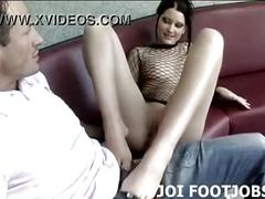 Let me lube up my feet so i can give you a footjob